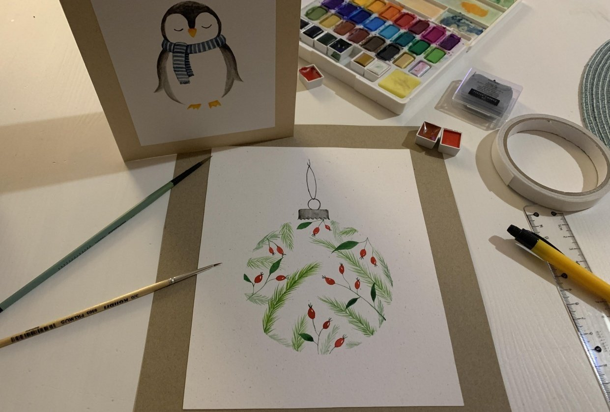 Holiday postcards - student project