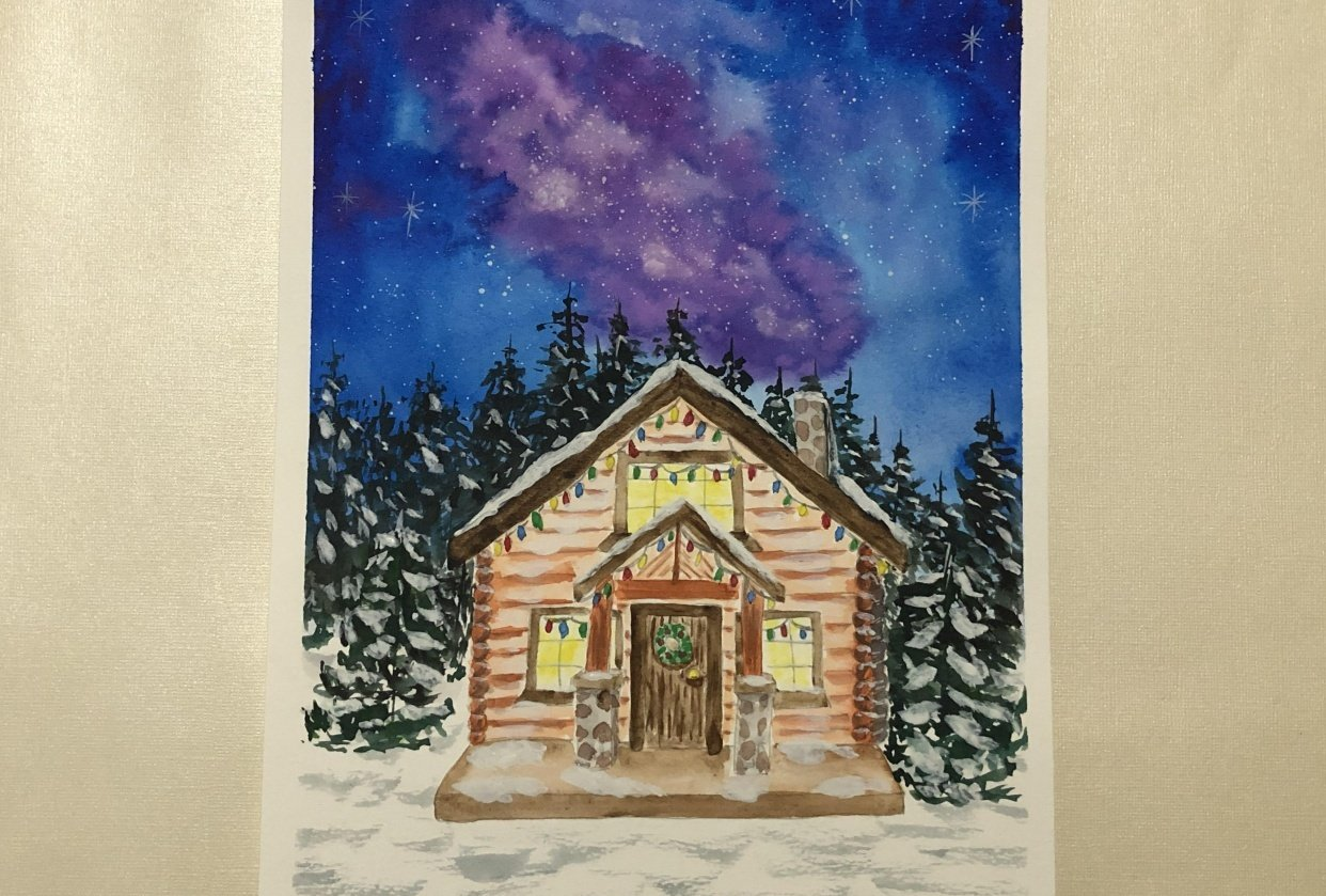 Christmas Cabin - student project