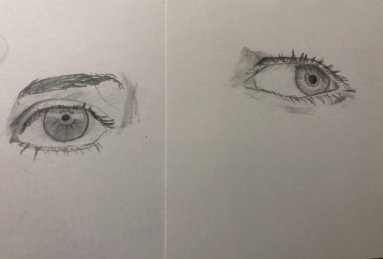 Trying out eyes - student project