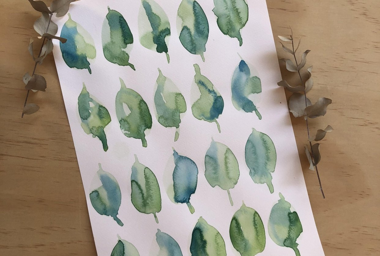Swatches and Leaves - student project