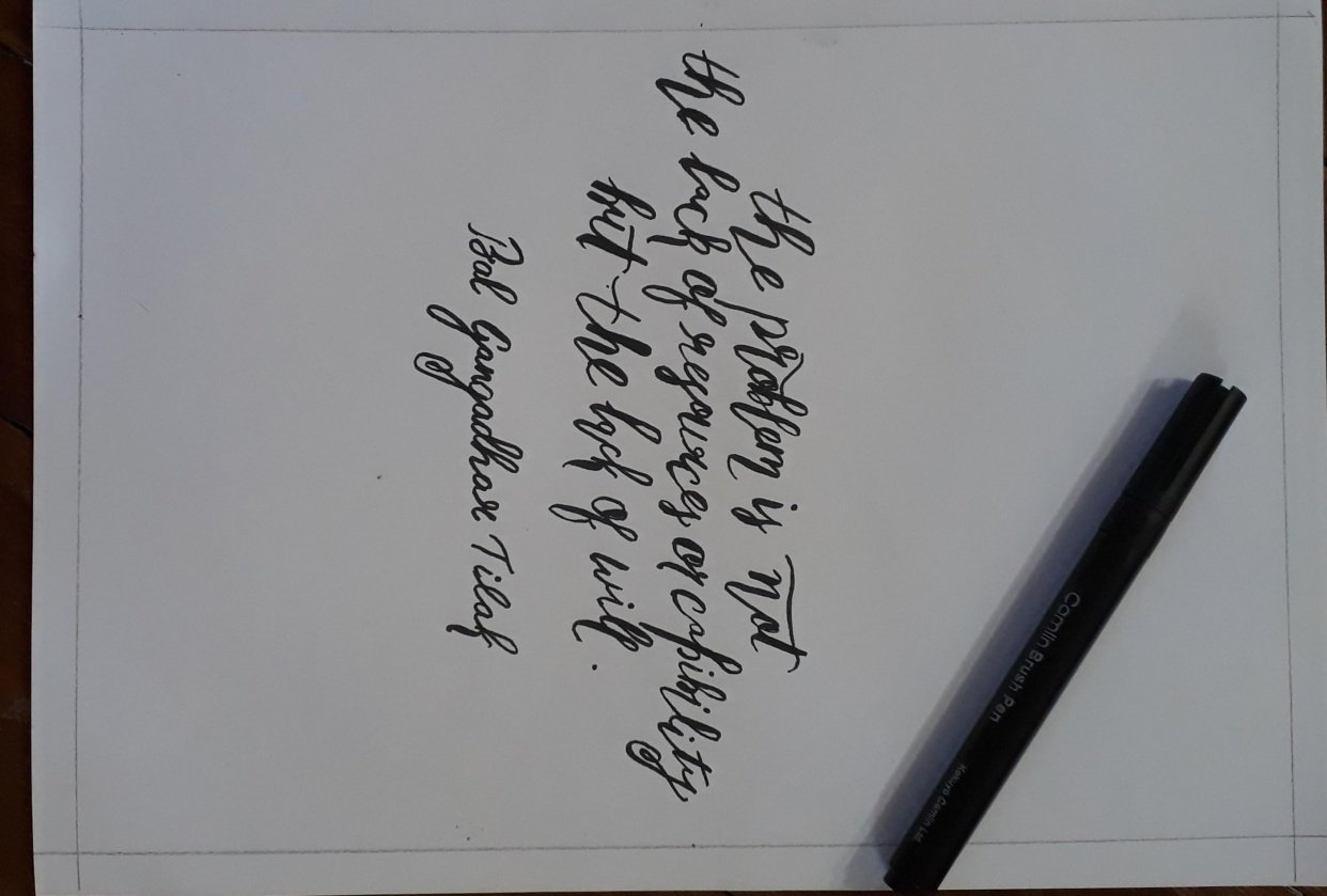 Work of art from calligraphy - student project