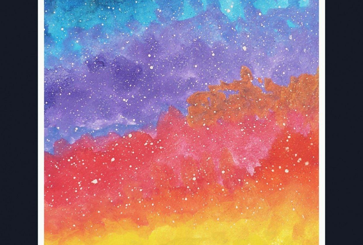Vibrant night sky - student project