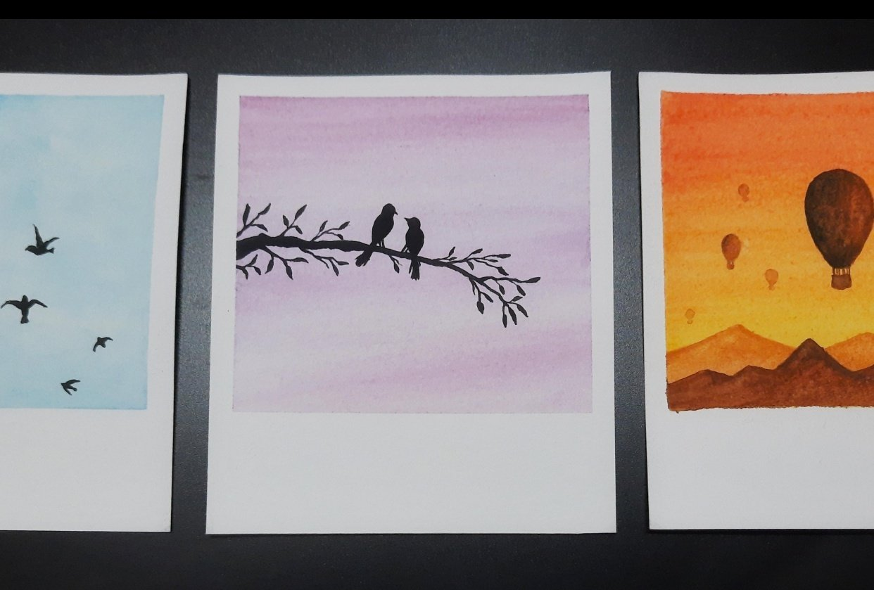 Simple Skies & Silhouettes - student project