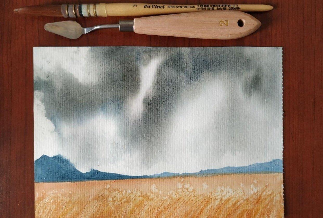 Storm cloud landscape - student project