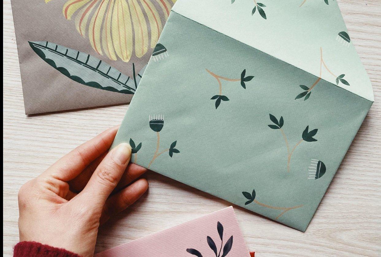 Folk Art Cards - student project