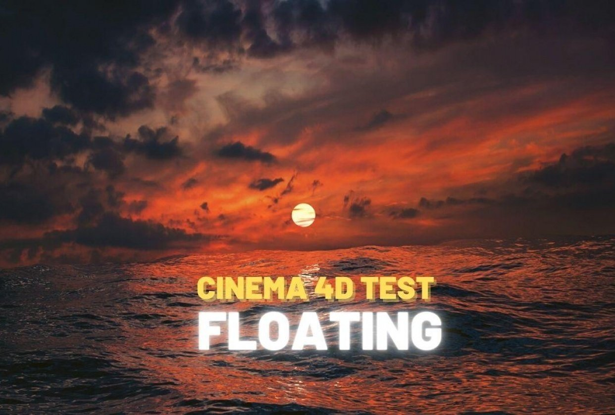 """""""Floating"""" Cinema 4d training - student project"""