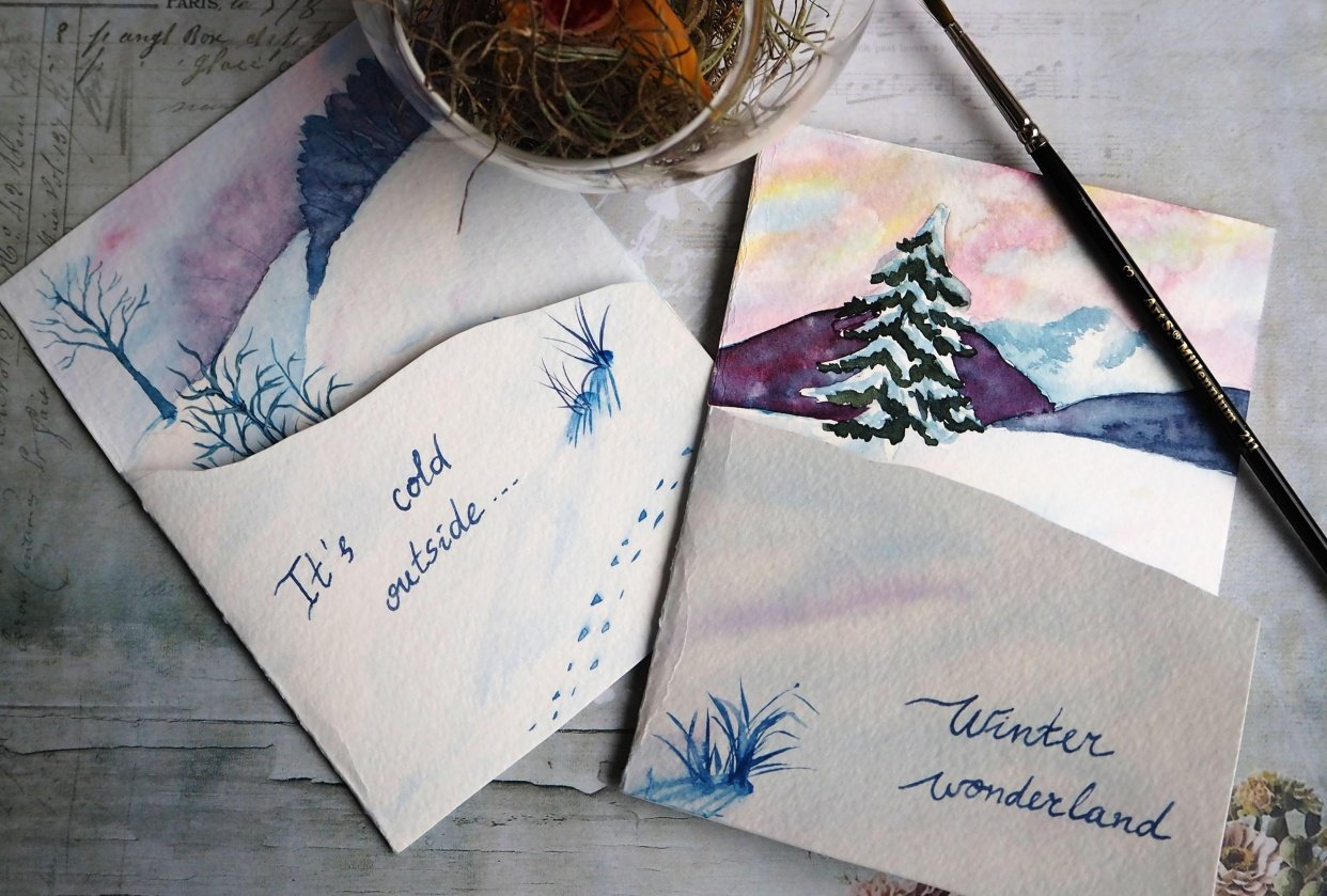 Winter cards - student project