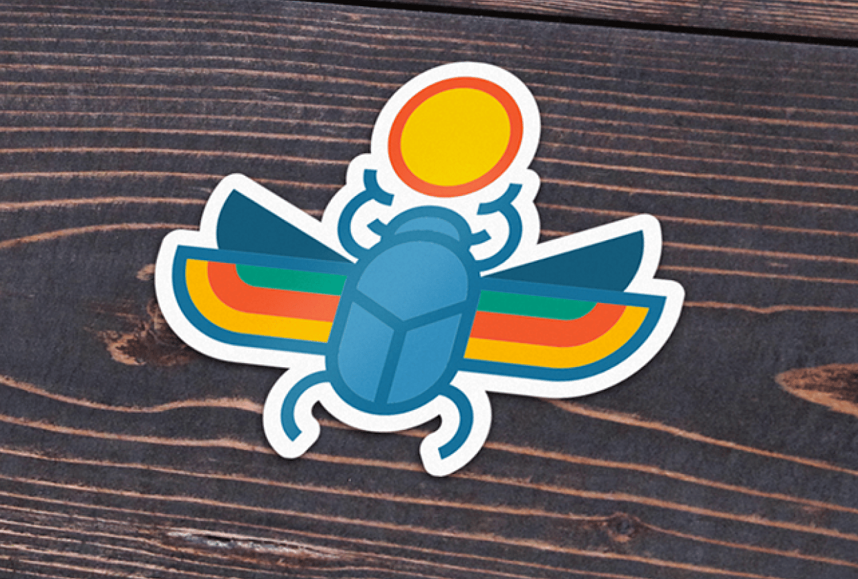 Beetle Sticker - student project