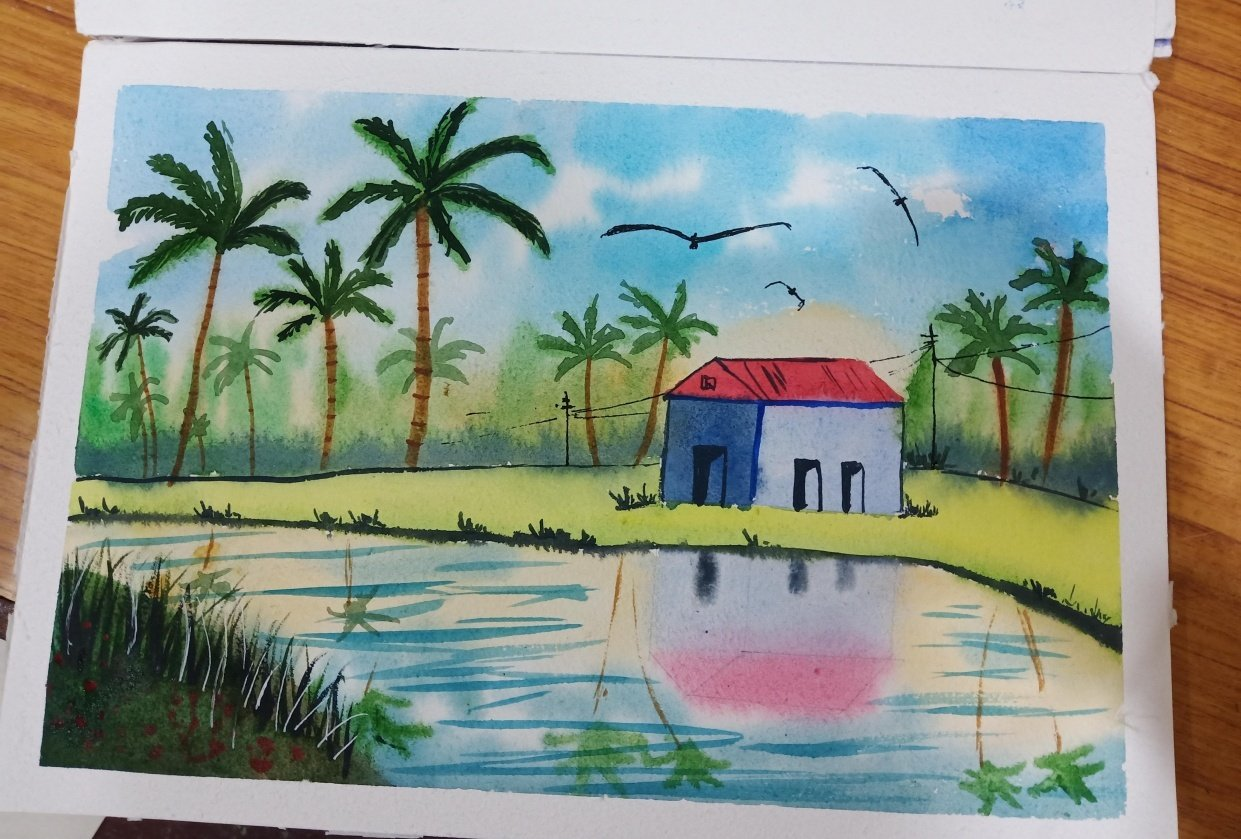 Country side landscape scenery - student project
