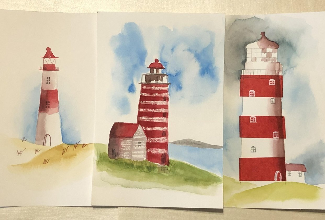 Three Lighthouses - student project
