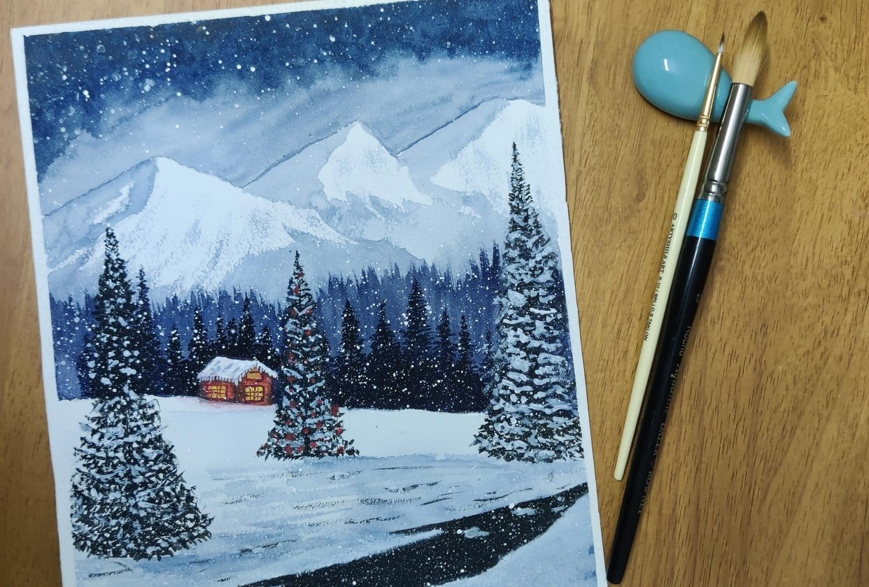 Snowy night with Z - student project