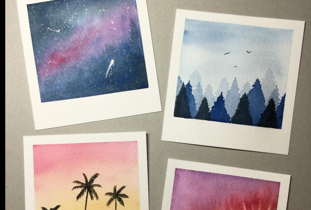 Bookmarks and polaroids - student project
