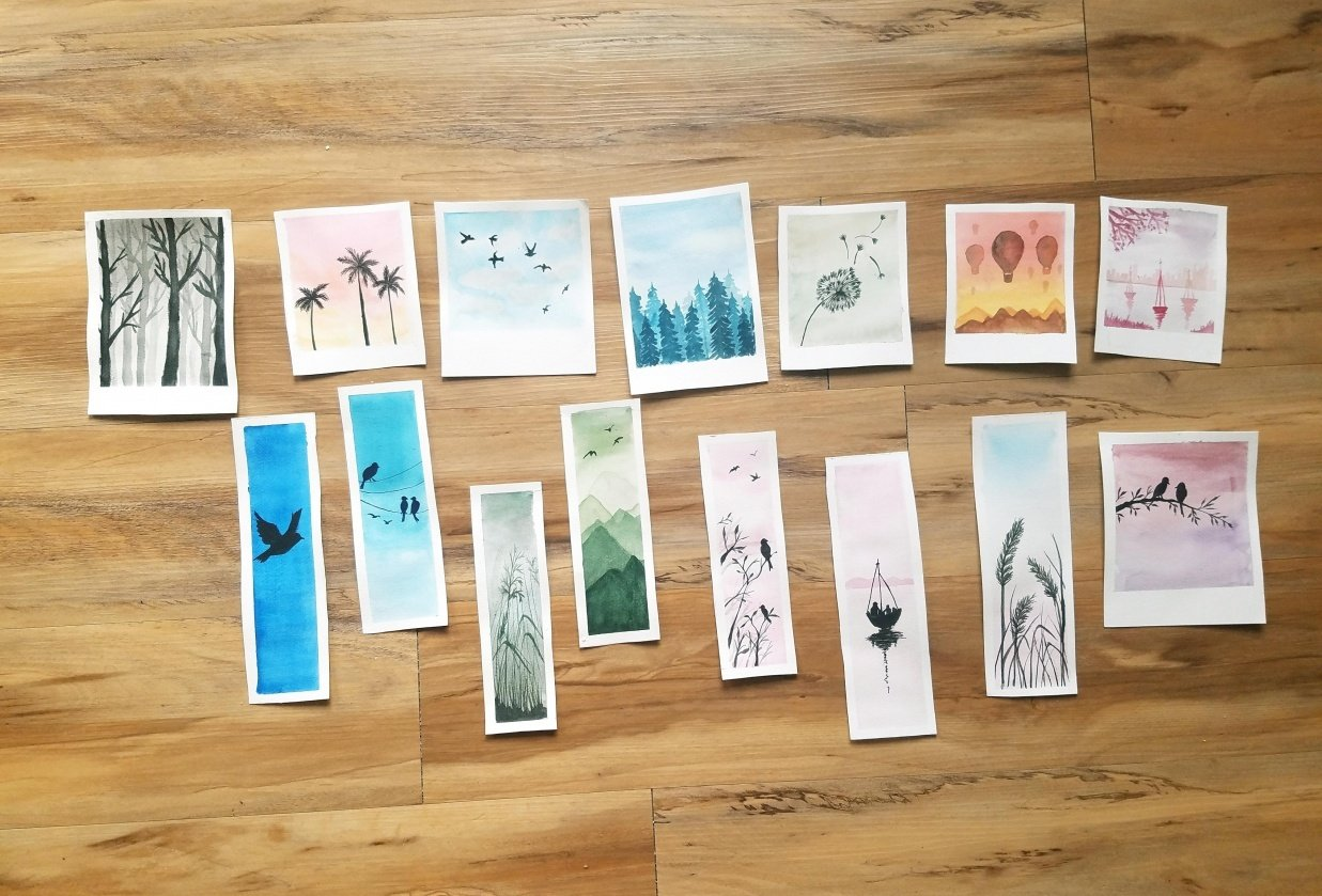 Relaxing Watercolors Projects for Beginners - student project