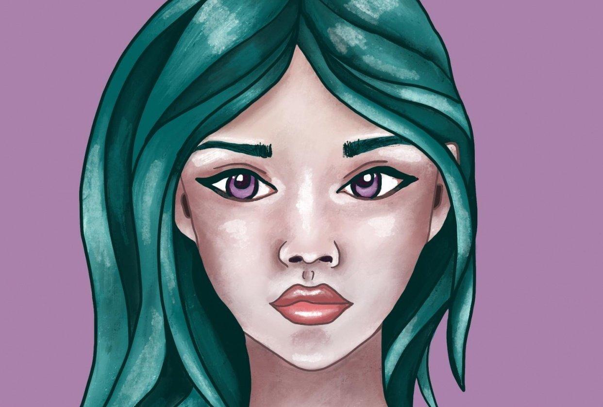Liz Creates Portrait - student project