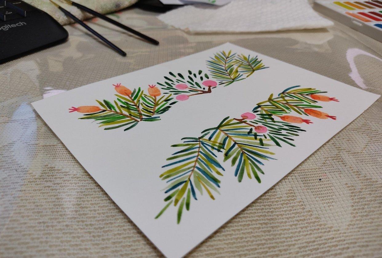 Postal Navideña - student project