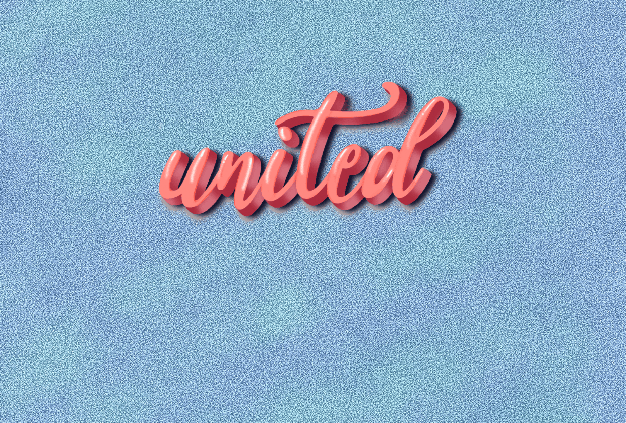 3D Lettering - student project