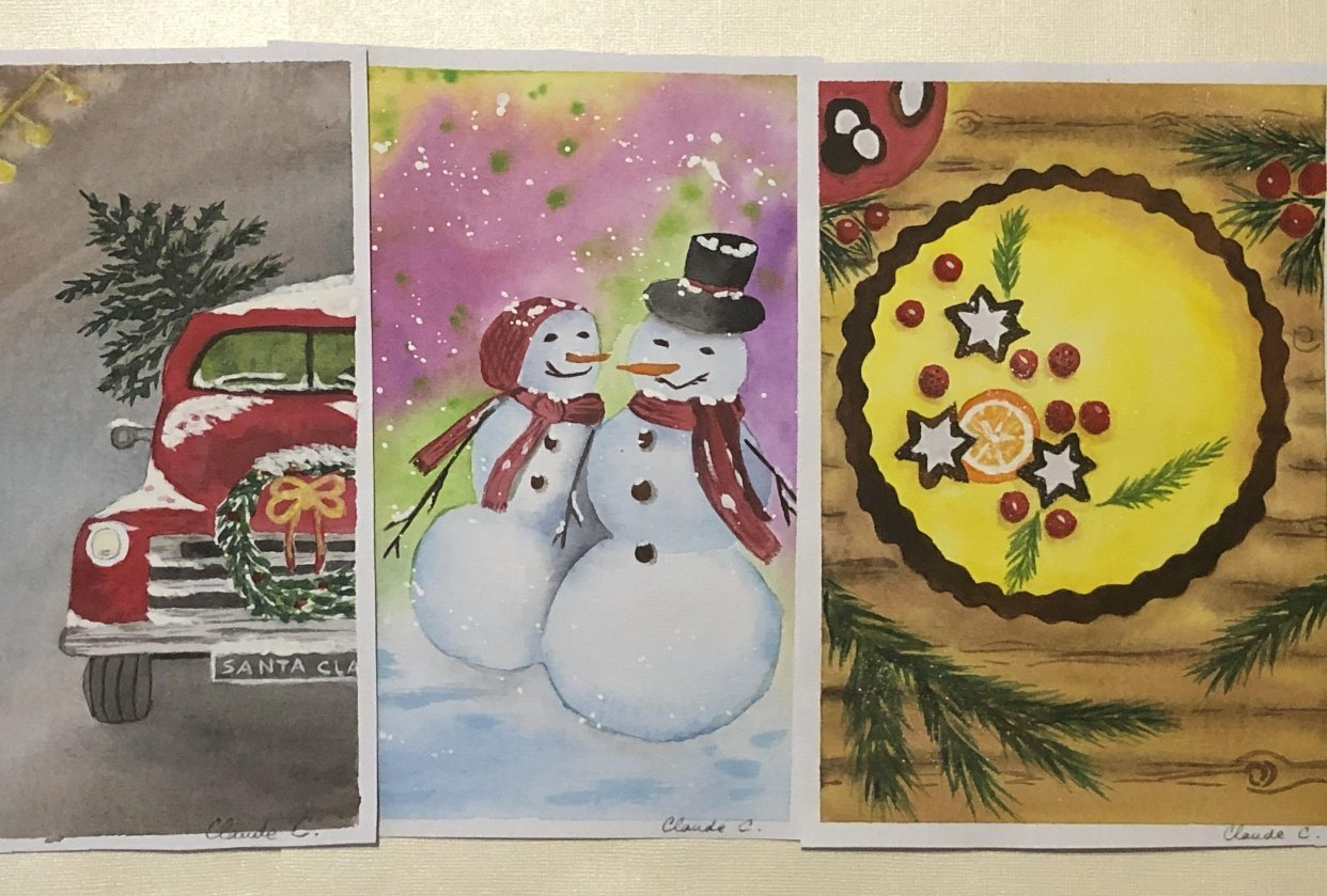 Christmas Illustrations - student project