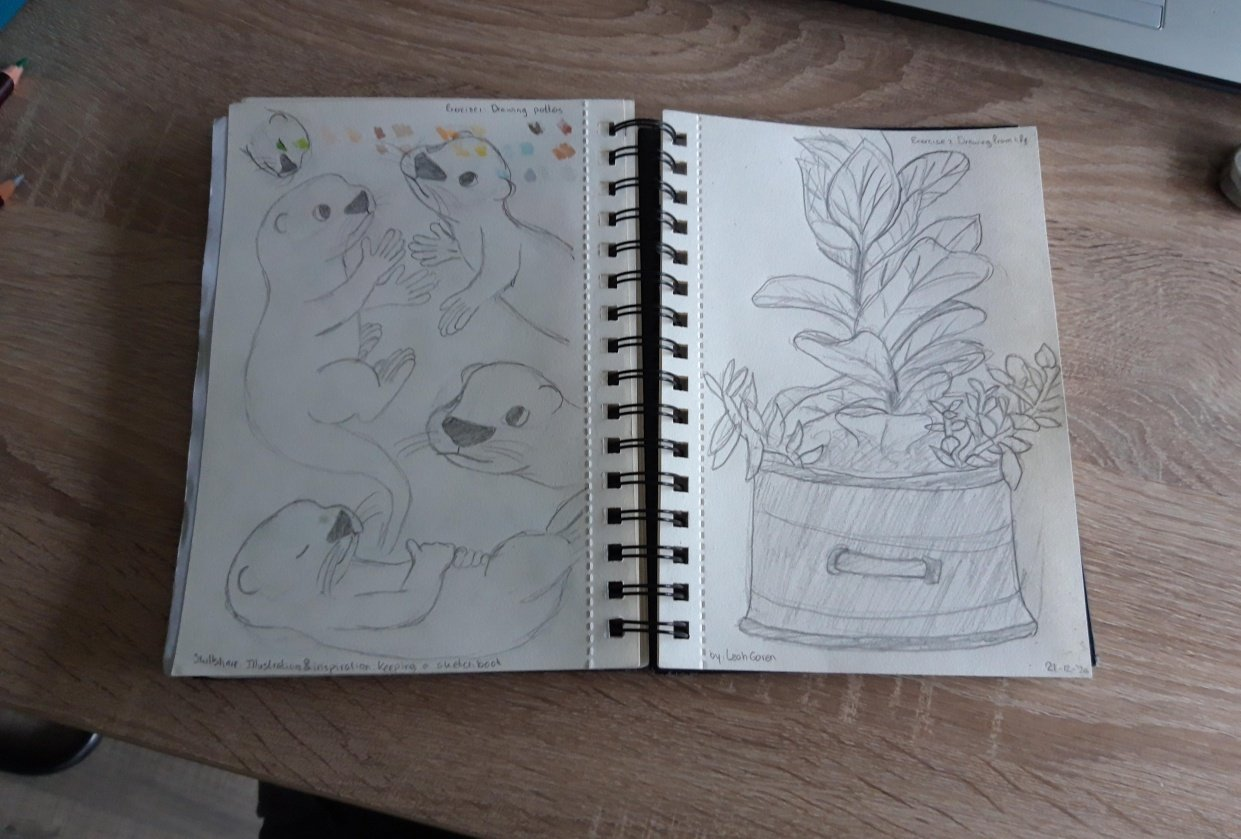 A sketchbook course - student project