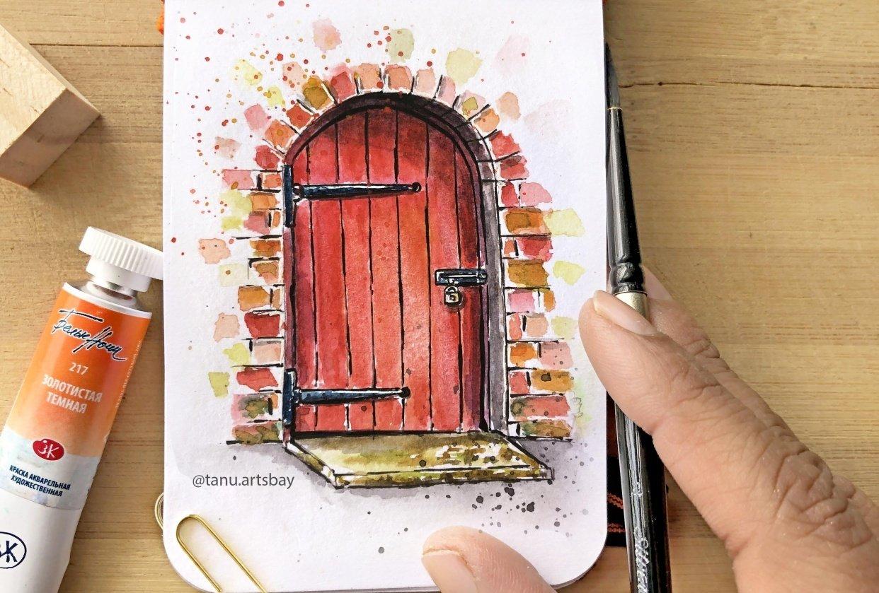 Door Illustration - student project