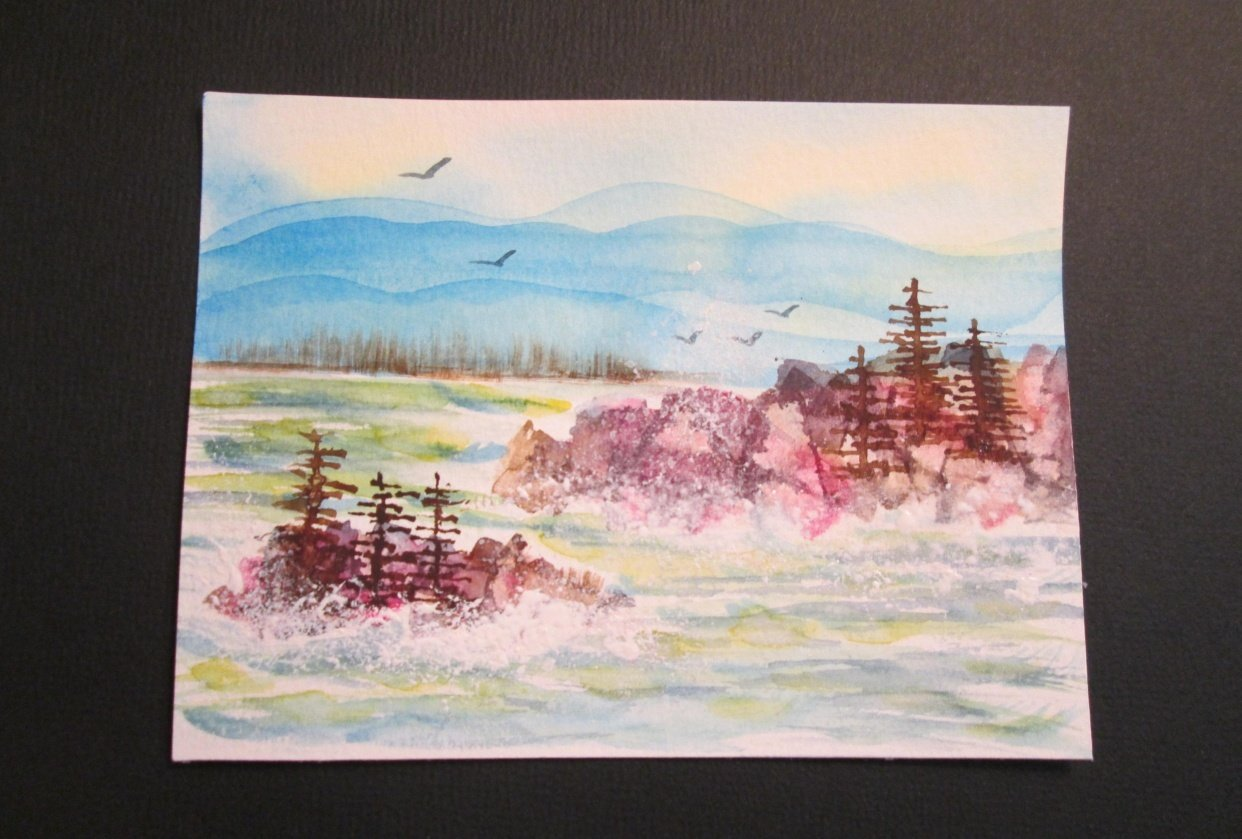 Stormy Winter Seas - student project