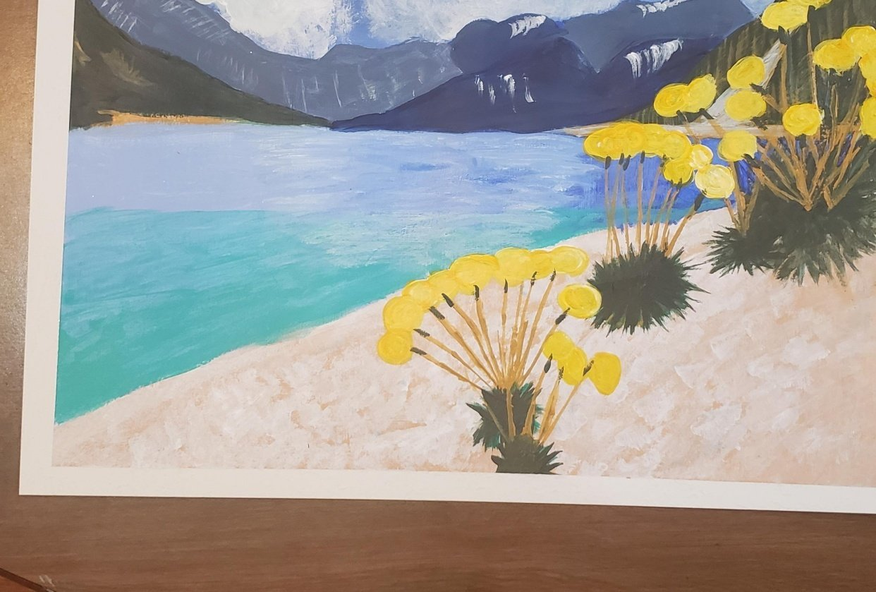 Lakeside flowers - student project