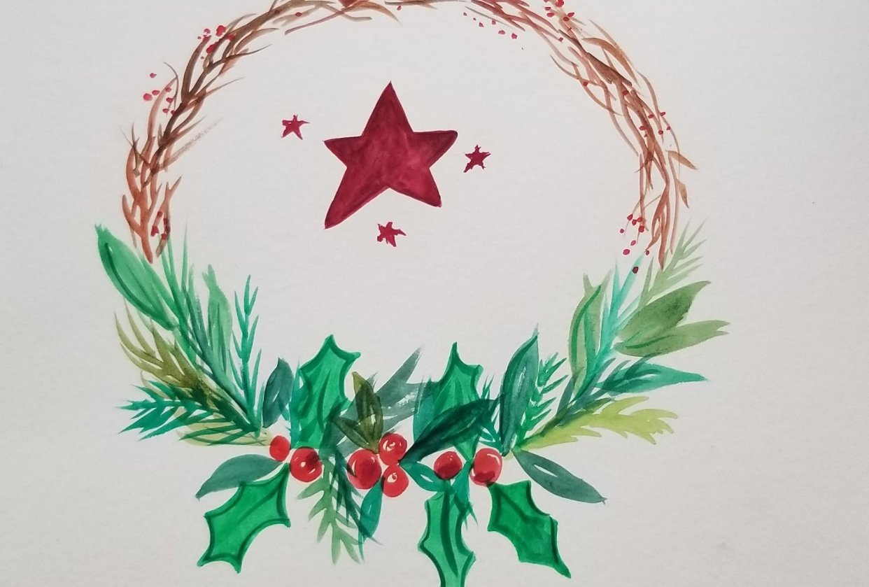 Holiday Wreath - student project