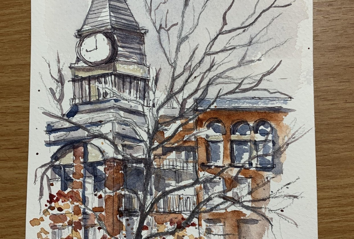 Urban Sketching From My Window - student project
