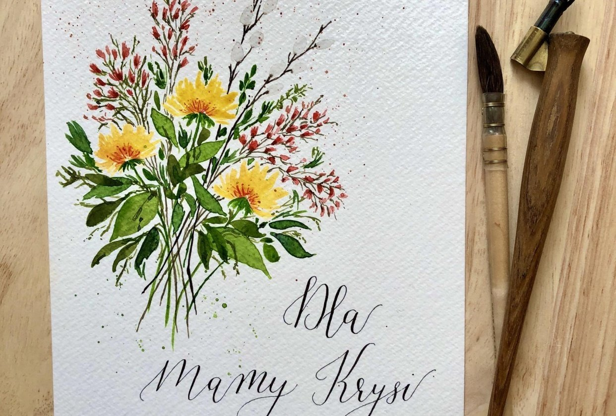 Birthday card for my mom - student project