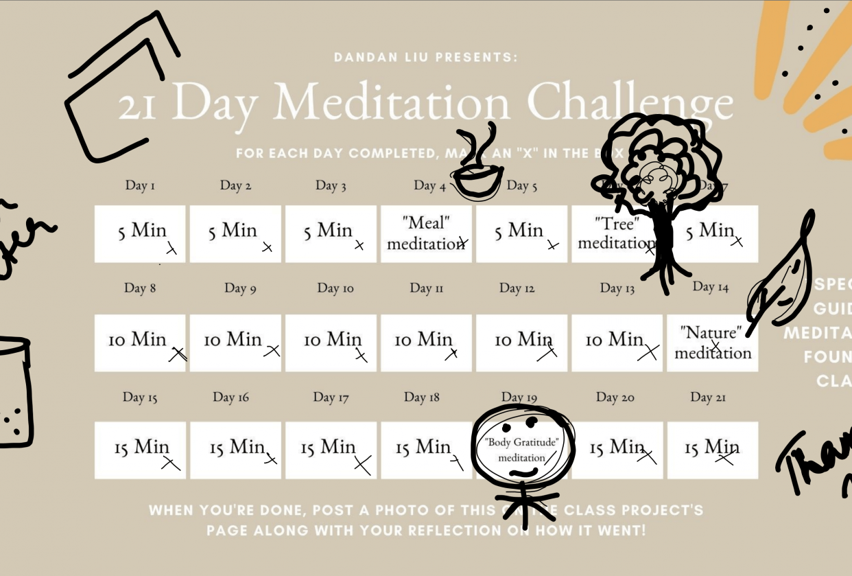 My reflections on Meditation 101 - student project