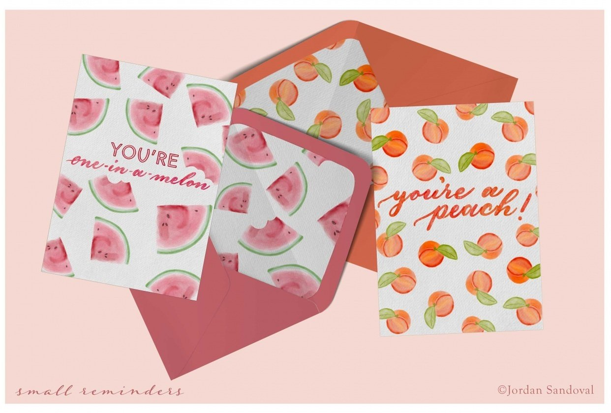Feminine & Fruity Thank You's - student project