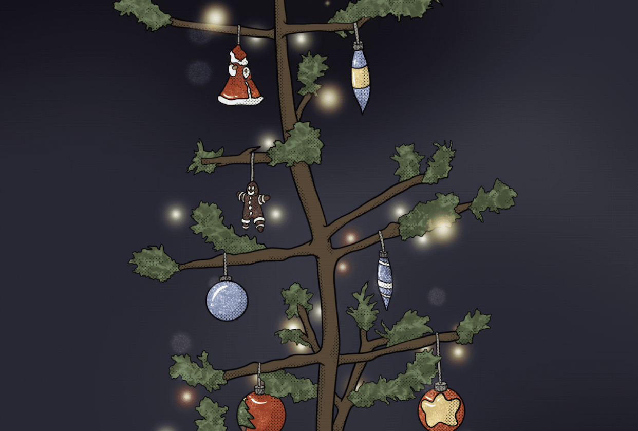 Twinkling Christmas Tree - student project