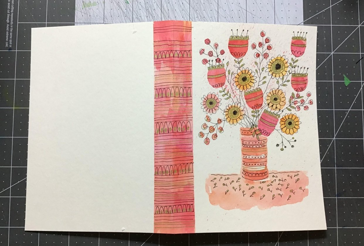Inky Doodle Notebook with Lucie Duclos - student project