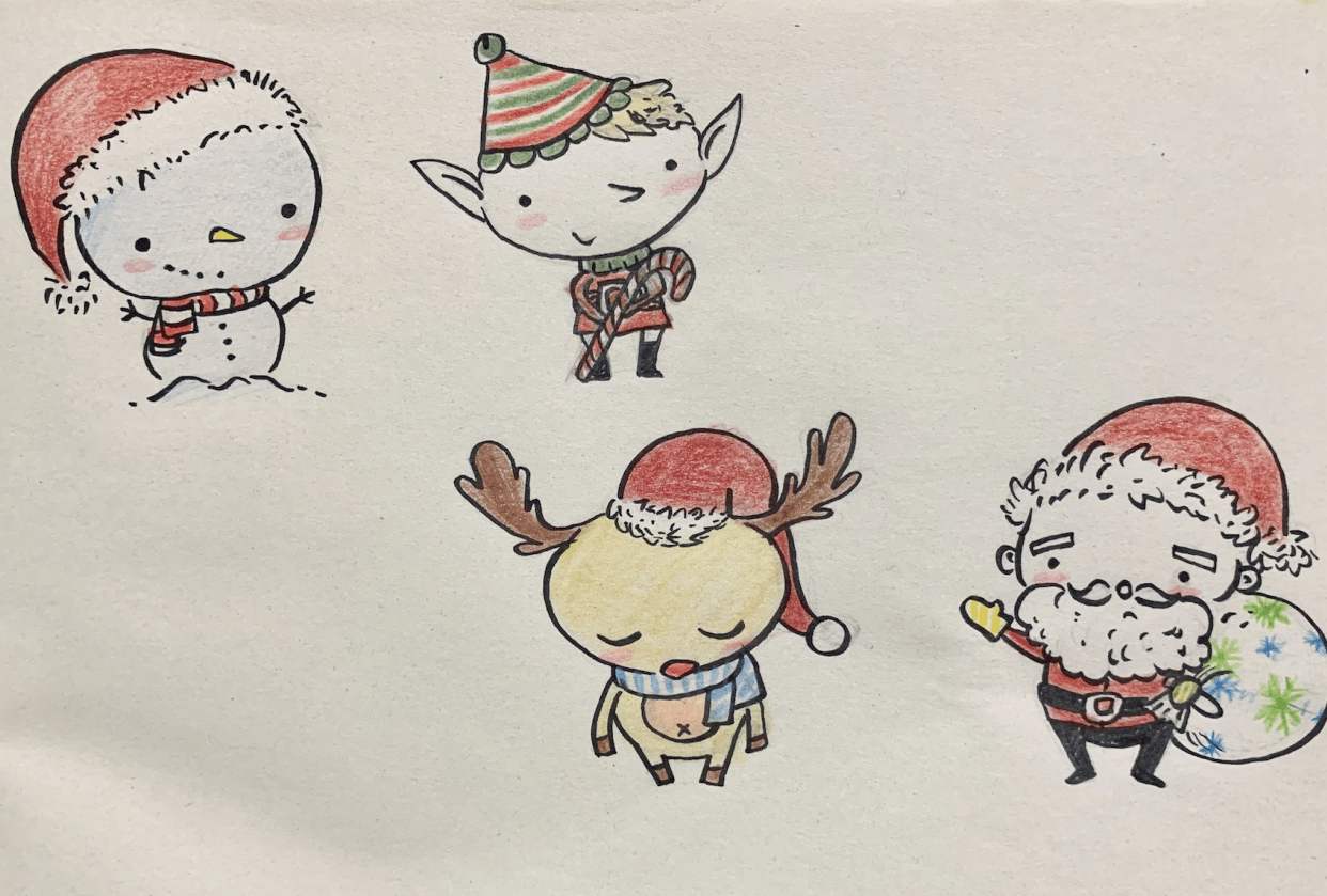 Christmas Cuties with Friends! - student project