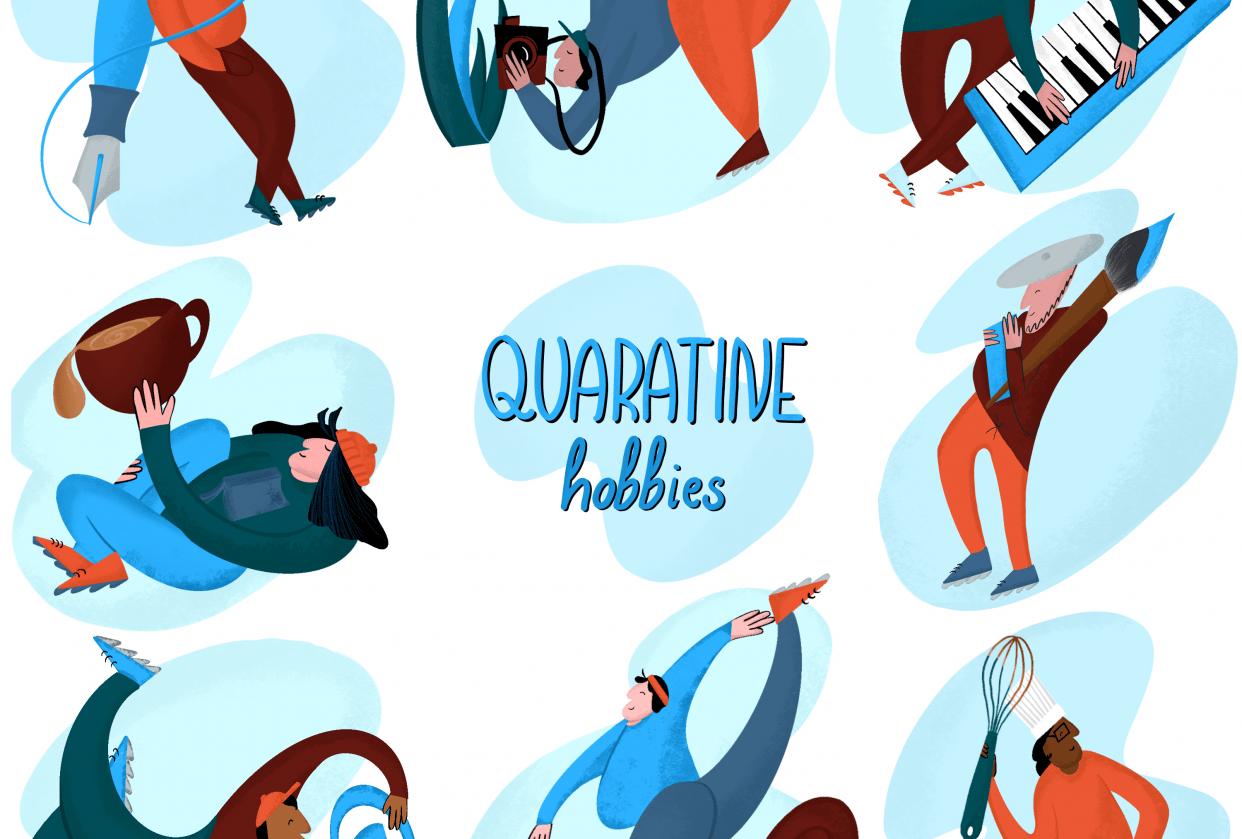 Quarantine hobbies - student project