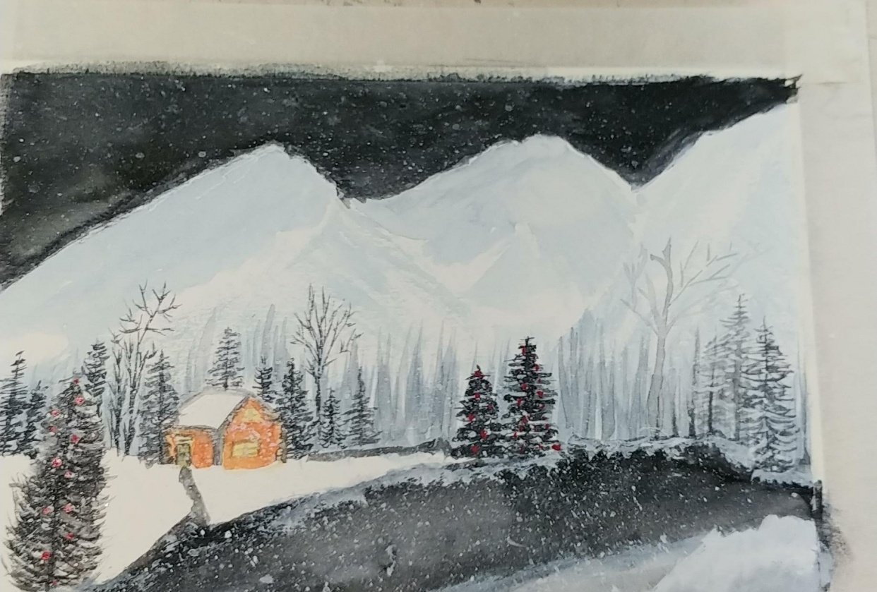 First winter scene - student project