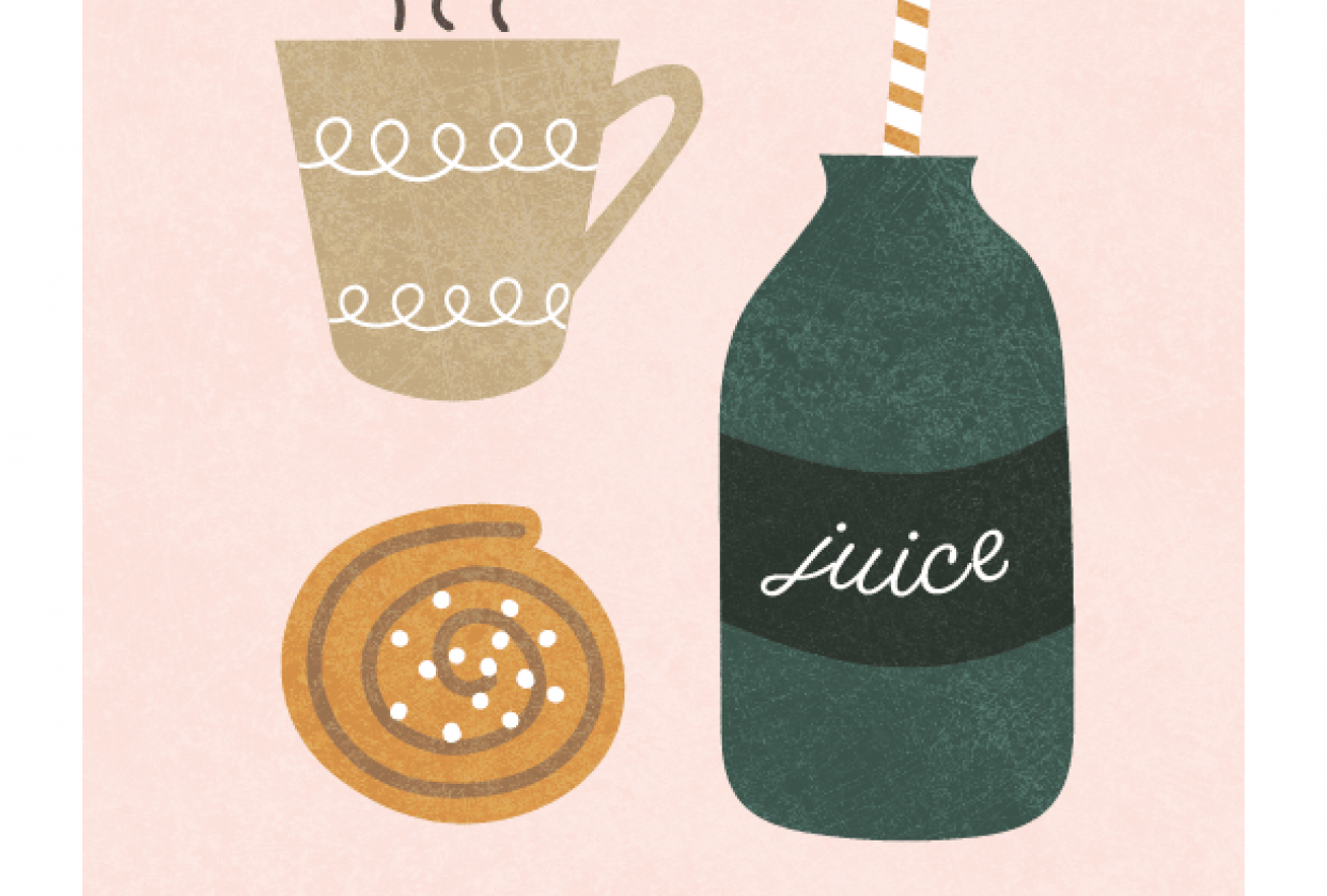 Swedish Fika (from sketch) - student project