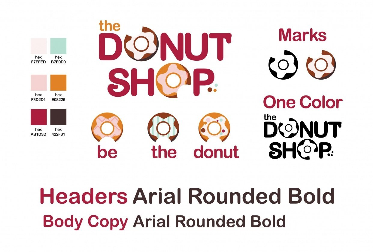 The Donut Shop Logo/Branding - student project