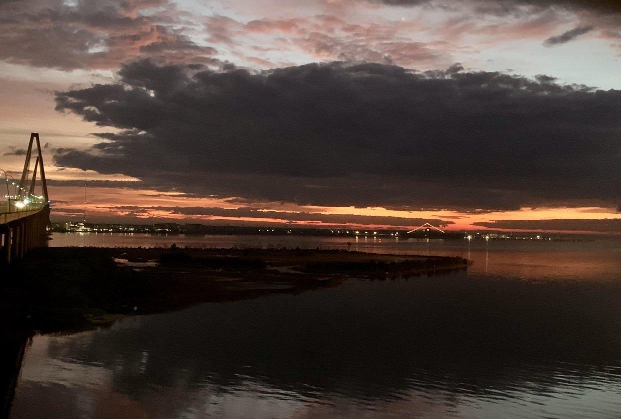 6:38 A.M. December 2020 Ravenel Bridge, Charleston, SC - student project