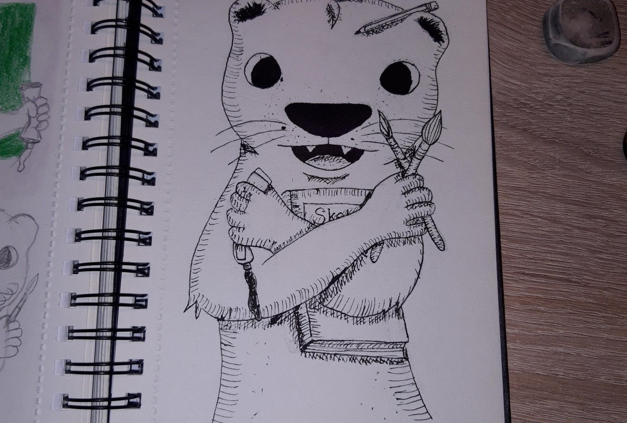 Inked creative otter - student project