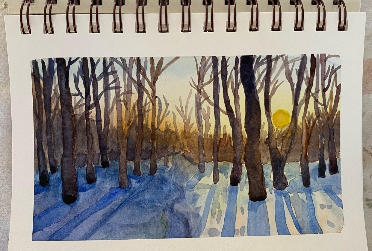 Winter forest landscape - student project