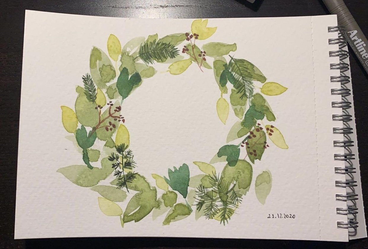 Green Wreath - student project