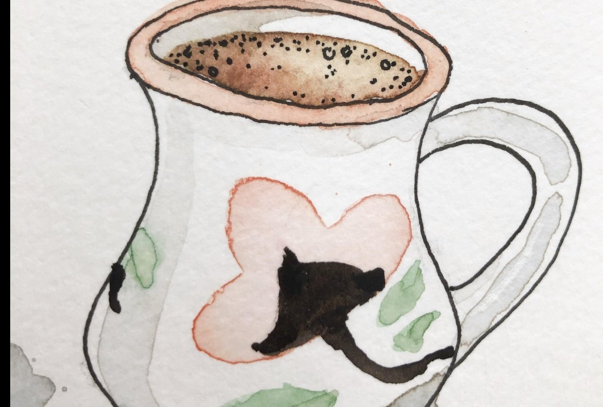 Coffee Cup Watercolour - student project