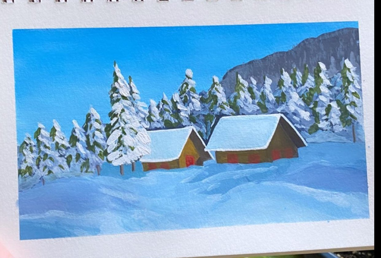 two wintery huts - student project