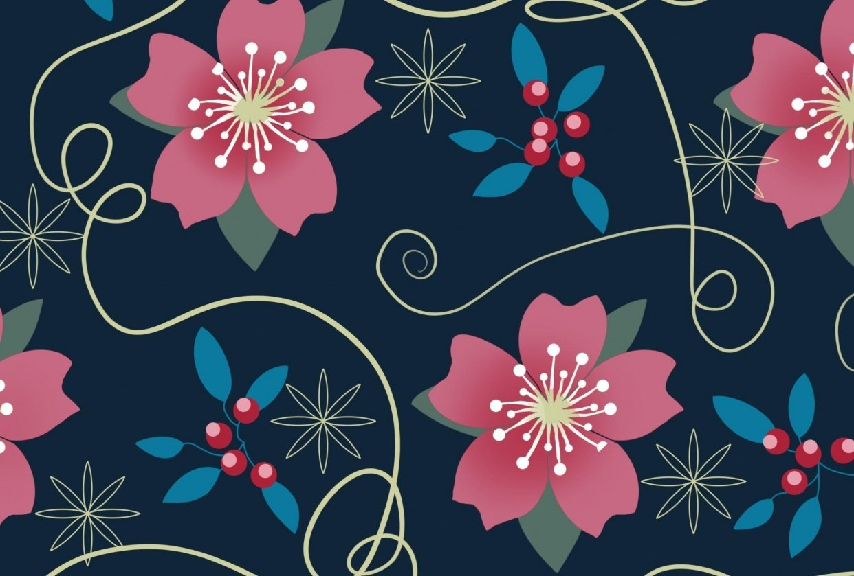 Multi-Color layered pattern brush - Sakura blossom - student project