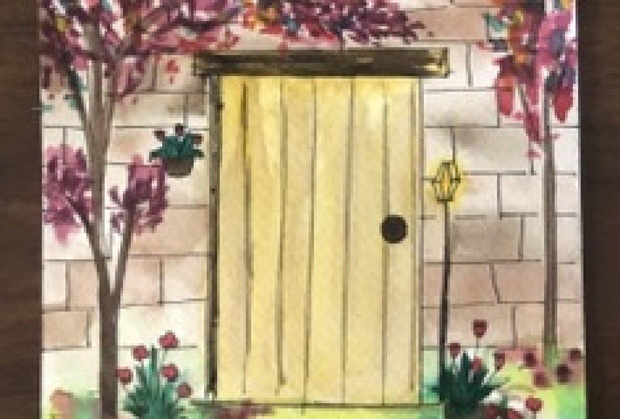 Watercolour door illustrations - student project