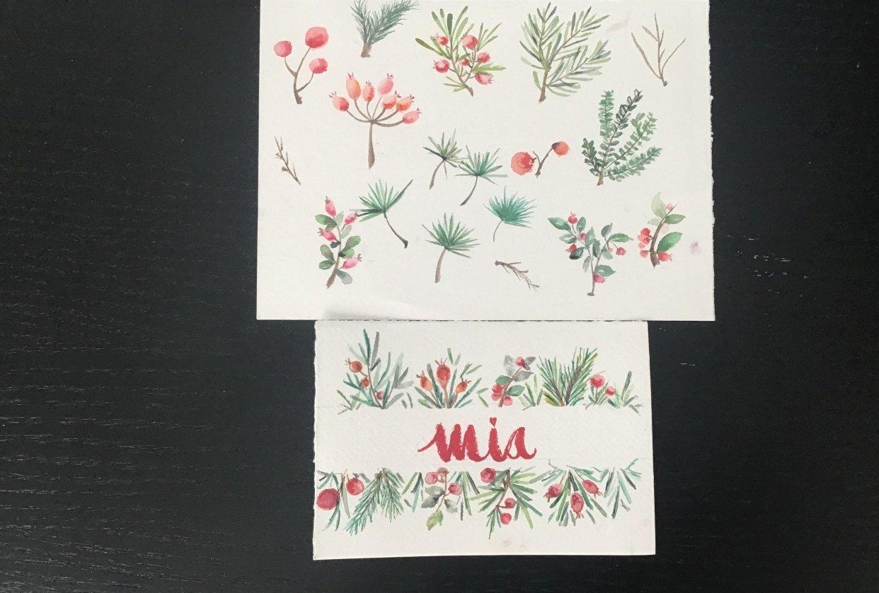 Adriana Xmas card - student project