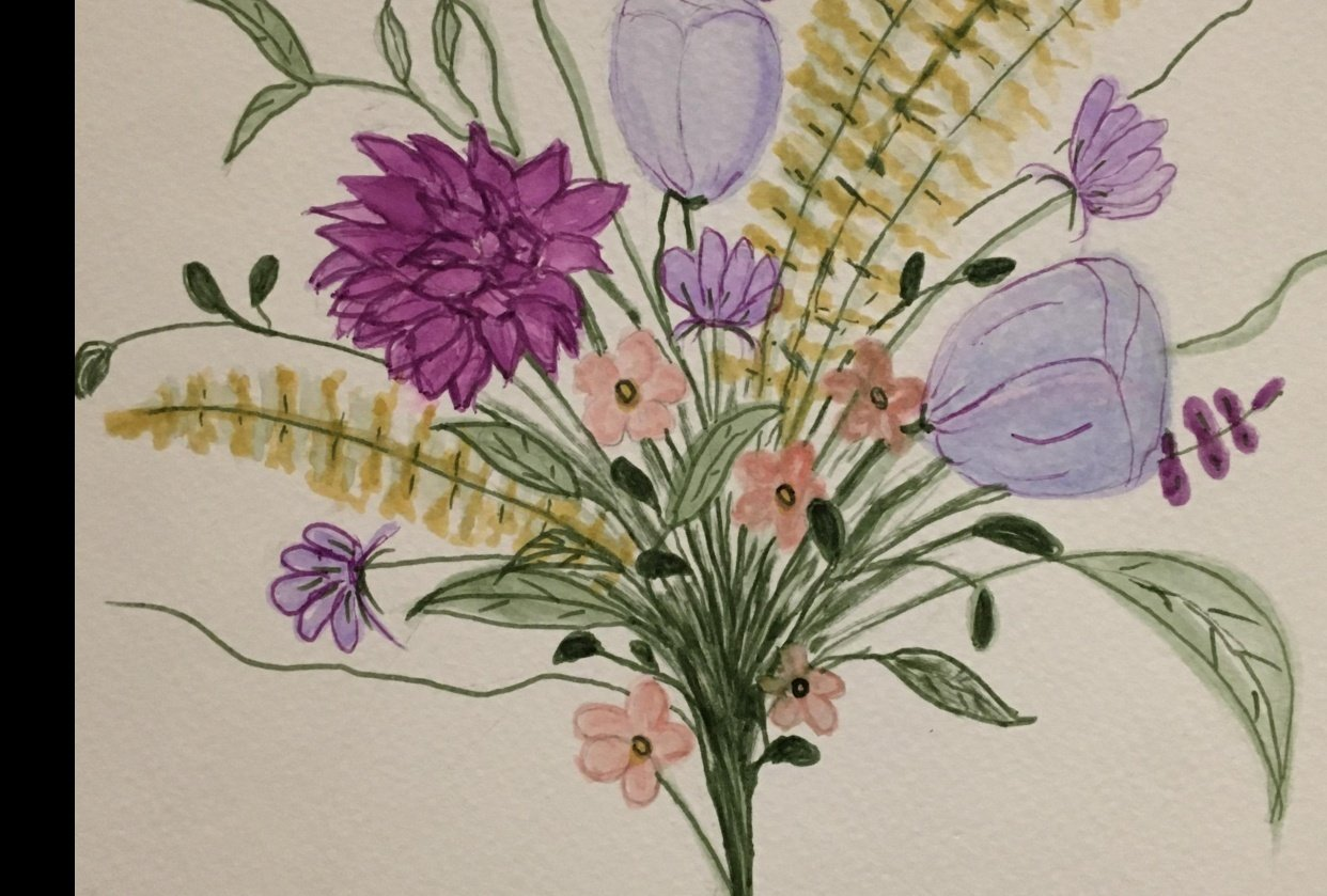 Brush Pen Bouquet - student project
