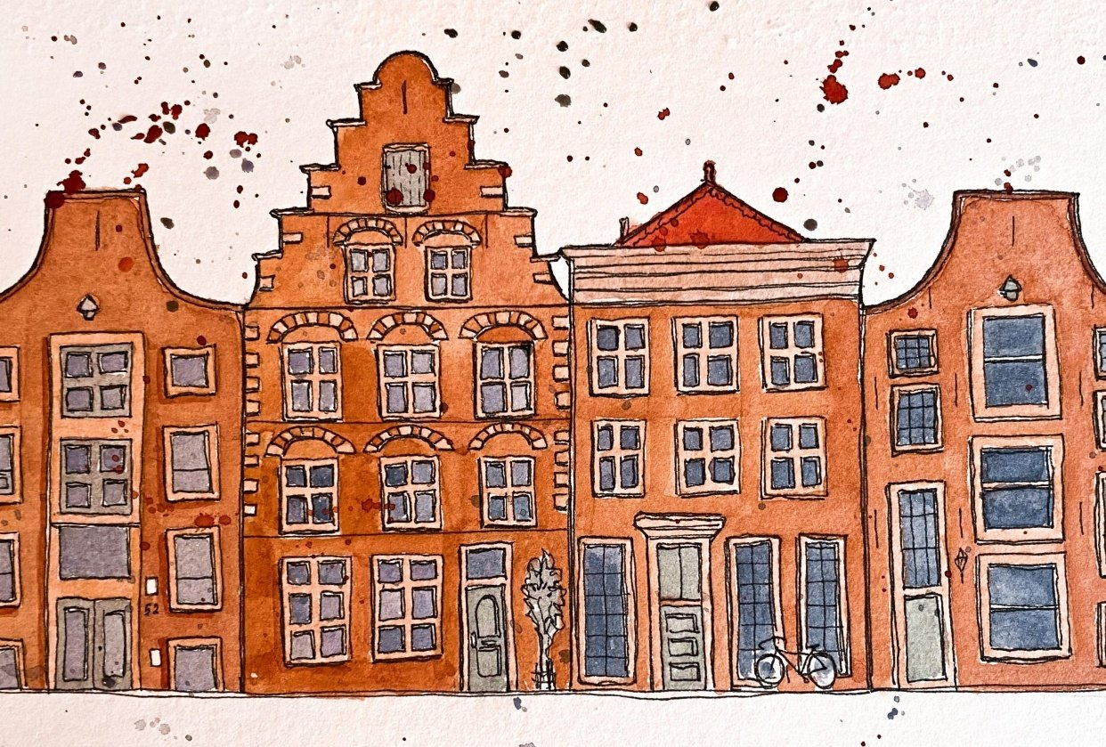 Urban Sketching - Haarlem - student project