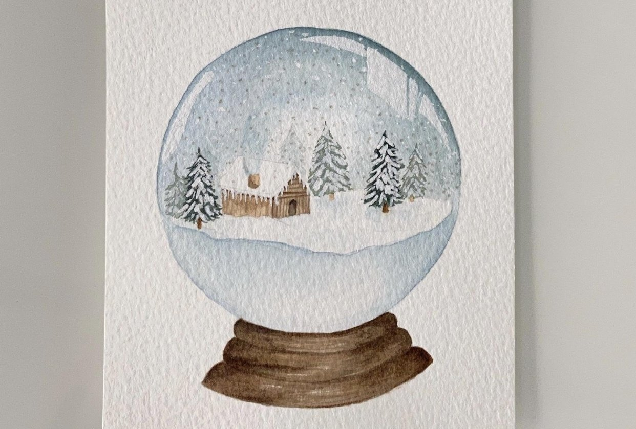 Watercolour: How to Paint Snow Globes - student project