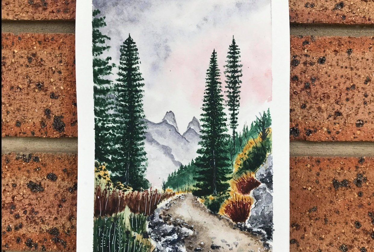 On the path to the mountains - student project